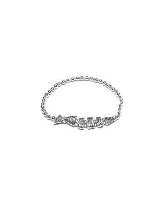 Bracciale elastico Silver Plated Pesce bigiotteria placcata in argento, nickel tested.