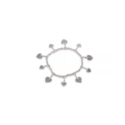 Bracciale elastico charm cuori