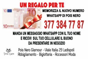 buono regalo 10 euro Pois Nero Ladispoli