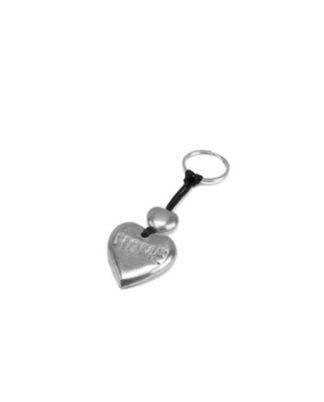 Portachiavi cuore e scritta home in alluminio riciclato