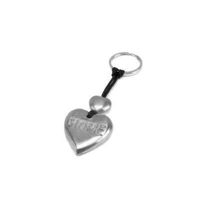 Portachiavi alluminio riciclato a forma di cuore