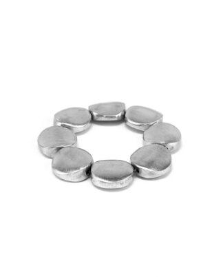 Bracciale elastico 8 tondi in alluminio riciclato