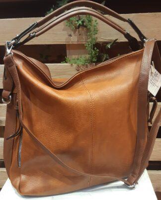 Borsa color cuoio, leggera, molto capiente e pratica
