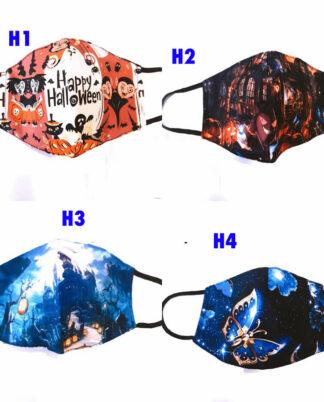 Mascherine halloween, in cotone, lavabile e riutilizzabile.