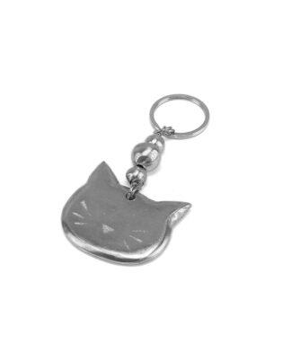 Portachiavi gatto in alluminio riciclato