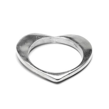 Bracciale forma cuore in alluminio riciclato, no nichel