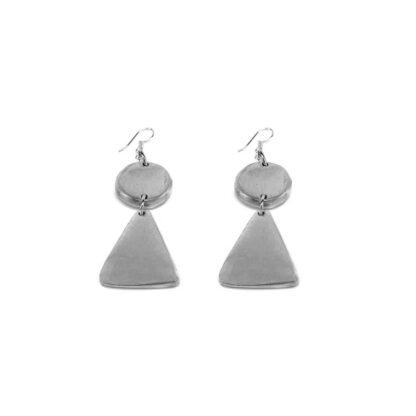 Orecchini Tondo e Triangolo in alluminio