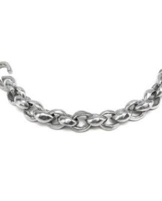 Bracciale catena e sfere in alluminio riciclato