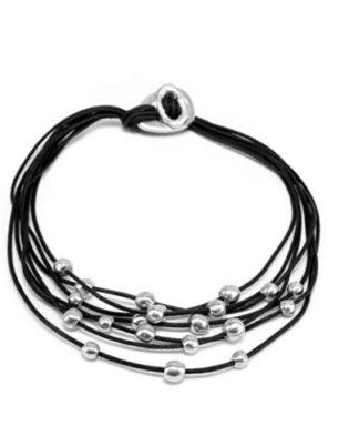 Collana 7 fili e sfere in alluminio