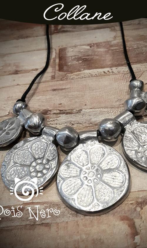 Collane lunghe, corte, alluminio, argento, lega Zama, ottone, legno, cartone