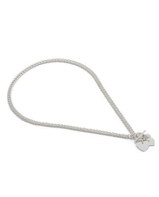 Collana catena tris cuori corta.No nichel, placcatura argento. Pois Nero Ladispoli