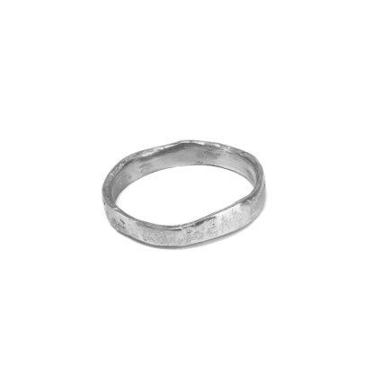 Bracciale rigido irregolare 1,5 cm alluminio 100% riciclato
