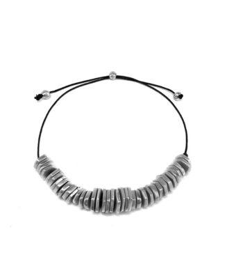 Collana rondelle in alluminio riciclato