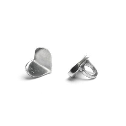 Anello cuore convesso alluminio non regolabile
