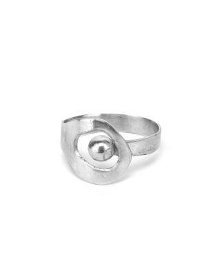 Bracciale tondo rigido con foro ovale in alluminio riciclato al 100%. Anallergico