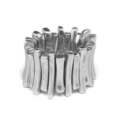 Bracciale elastico 26 rettangoli, 100% alluminio riciclato, nickel tested.