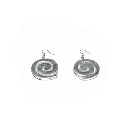 Orecchini a spirale in alluminio riciclato al 100%.