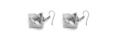 Orecchini forma diamante in alluminio riciclato