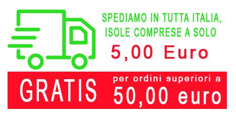 Spedizioni in tutta italia isole comprese a solo 5.00 Euro