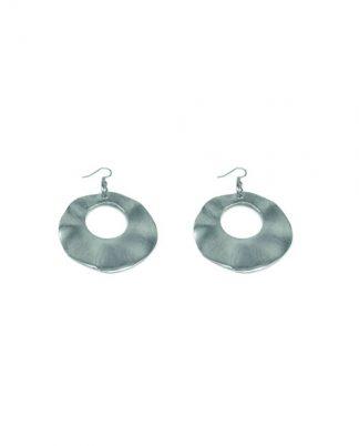 Orecchini ovali irregolari in alluminio riciclato, no nichel, anallergici.