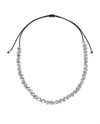 Collana regolabile pepite. Lavorazione della placcatura in argento è artigianale, rendendo ancora più preziosa la storia racchiusa in ogni bijoux.